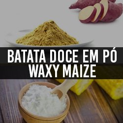 Batata doce em pó e Waxy Maize